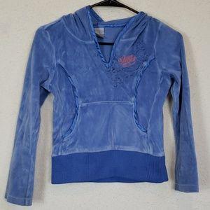 Girls blue nike hoodie